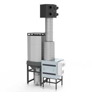 SCS est un système de filtration centralisé pour l'enlèvement des fumées dégagées lors des processus de soudure, découpe et meulage dans l'industrie métallurgique.